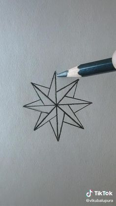 3d Art Drawing, Art Drawings Sketches Simple, Drawing Stars, Art Drawings Beautiful, Pencil Art Drawings, Easy Drawings, Easy Mandala Drawing, Plane Drawing, Mandala Art Lesson