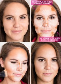 Amp up your going-out makeup by contouring and highlighting your facial features with two concealers: one two shades darker than your skin tone and one two shades lighter. How to apply concealer the RIGHT way—all the tips and tricks you HAVEN'T heard of. Beauty Secrets, Beauty Hacks, Beauty Trends, Beauty Care, Beauty Make Up, Hair Beauty, Beste Concealer, Makeup Articles, Make Up Inspiration