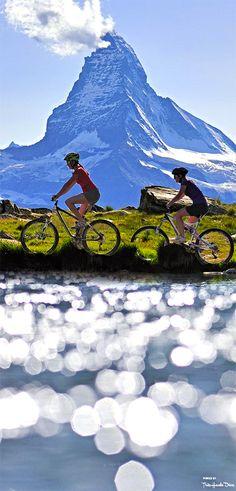 Mountain- Biking in Zermatt,Switzerland