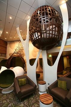 """Hideaway treehouse retreats in the bar of the ship """"Celebrity Silhouette"""""""