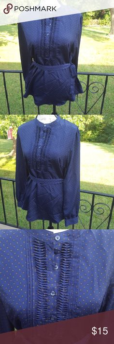 Merona size large belted tunic top nwt New without tags navy belted tunic.nice dressy thin silky material. Merona Tops