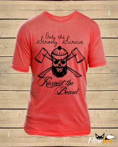 Mens RESPECT THE BEARD Vintage Feel Soft Blend by FlowfoxDesigns