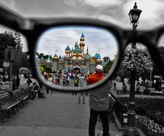 Disneyland. What a cool idea for a photo.