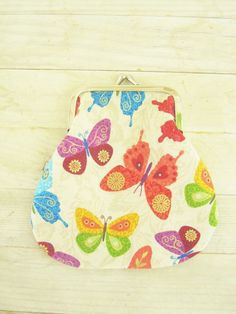 Coin purse wallet pouch metal frame colorful by poppyshome on Etsy, €11.00