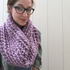 A personal favorite from my Etsy shop https://www.etsy.com/listing/246167423/super-chunky-oversized-lavender-cowl