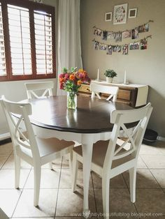 We bought this awesome table at a thrift store not long after we got married. It really is a great table. It's solid wood, and comes with th...
