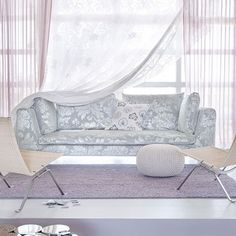 Pretty living room with lace and damask | living Room decorating | Livingetc | Housetohome