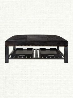 """Butler 48"""" Square Ottoman in Brindle Angus from Arhaus.Com"""