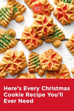 Here's Every Christmas Cookie Recipe You'll Ever Need Spritz Cookie Recipe, Spritz Cookies, Meringue Cookies, Cookie Recipes, Cookie Tray, Test Kitchen, Holiday Desserts, Christmas Cookies, Nutella