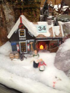 kerstdorp huisje