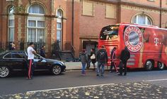 Bayern Munich team bus crashes into parked car