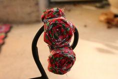 Holly Berry Rosette Bracelet
