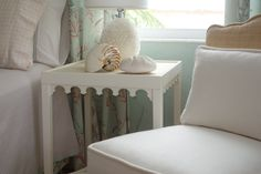 oomph Newport Side Table and Scallop Slipper Chair.