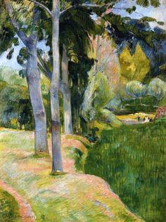 Paul Gauguin (Fr. 1848-1903), Les Grands Arbres, 1889, huile sur toile, collection privée
