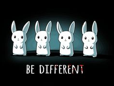 One of these things just ate all the others. Get the Be Different t-shirt only at TeeTurtle!