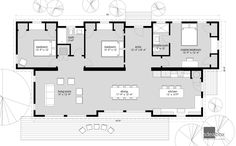 Confluence Series 2.0 Beach House Plans, House Floor Plans, Prefab Homes, Modular Homes, Simple Floor Plans, Floor Plan Drawing, Desert Homes, River House, Cabin Plans