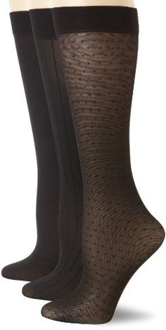 Save $4.00 on Anne Klein Women's 3 Pack Mesh Dot Trouser Sock; only $16.00 + Free Shipping