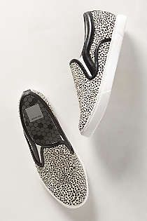 Anthropologie - Spotted Calf Hair Slip-Ons