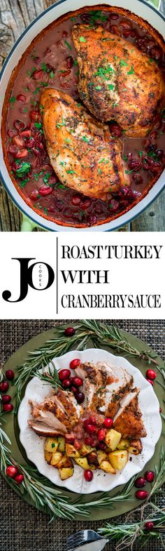 This Roast Turkey Breast with Saucy Cranberry Sauce is your answer to stress free holiday and a great alternative to cooking a whole turkey.