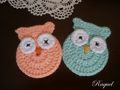 Upstairs in the loft: Owls, crochet, clear ~ free pattern Crochet Birds, Crochet Motif, Crochet Yarn, Crochet Flowers, Owl Patterns, Knitting Patterns, Crochet Patterns, Crochet Gratis, Free Crochet