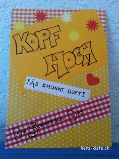 """Aufmunterungs-Karte """"Kopf hoch"""" - Herz-Kiste"""
