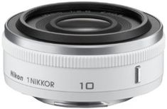Nikon 1 NIKKOR 10mm f/2.8 (White) by Nikon. Save 1 Off!. $246.95. From the Manufacturer                  Ultra compact, portable and fast  High quality images of natural scenery, snapshots of daily life and low light situations are rendered with ease. Produce shallow depth of field looks with dreamy backgrounds and set your subjects apart using an f/2.8 aperture and 10mm (picture angle equivalent of a 27mm in 35mm format). Extremely compact and stylish, this is the lens you can take...