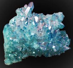 "5"" aqua aura quartz, Jim Coleman's Mine, Hot Springs, Arkansas, USA"