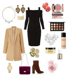 """""""Dinner On The Town"""" by teresalcaine on Polyvore featuring Elie Tahari, Miss Selfridge, Red Herring, Gianvito Rossi, Michael Kors, Charlotte Russe, Old Navy, MAC Cosmetics, Bare Escentuals and philosophy"""