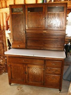 Love Hoosier cabinets!  A great old one has found a new home in my kitchen!