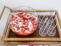 Pink Lemonade Champagne Punch Recipe : Sandra Lee : Food Network - FoodNetwork.com