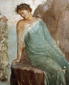 Dedalo e Icaro (dettaglio). Affresco. La fine del I secolo a. C. Villa Imperiale, Pompei. Museo Archeologico Nazionale di Napoli