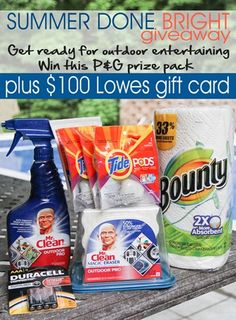 Click to enter to win a P&G Summer Outdoor Cleaning Prize Pack and $100 Lowes Gift Card #giveaway
