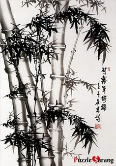 """BLACK BAMBOO PAINTING"" Jigsaw Puzzles 1000 Pieces"