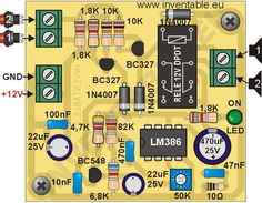 Proyecto completo para la construcción de un pequeño intercomunicador, fácil de hacer y que usa el conocido circuito integrado amplificador LM386
