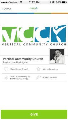 Vertical Community Church in Edinburg, Texas #GivelifyChurches