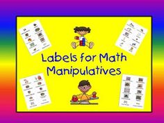 A Teacher's Touch: Labels for Math Manipulatives