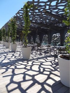 The wooden pergola is a good solution to add beauty to your garden. If you are not ready to spend thousands of dollars for building a cozy pergola then you may Landscape Structure, Landscape Architecture, Architecture Design, Plans Architecture, Light Architecture, Historical Architecture, Urban Landscape, Landscape Design, Landscape Materials