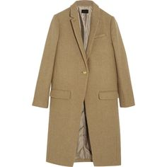 J.Crew Collection Harris Tweed wool coat (¥48,365) ❤ liked on Polyvore