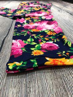 Fuchsia Floral leggings    Leggings • custom • soft • double brushed polyester • pants • flower pants • Floral leggings • flowers  Mylovelymuse.etsy.com