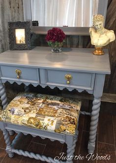 great library table and stool makeover