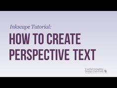 How to Create Perspective Text Using Inkscape - Inkscape Tutorial - YouTube