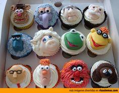 Cupcakes originales: Teleñecos.