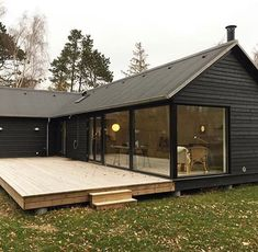 Modular homes by Denmark based Mønhuset Modern Barn House, Timber House, Affordable Housing, Home Fashion, Future House, Building A House, House Plans, New Homes, House Design