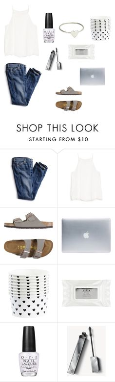 """""""Untitled #141"""" by leenap ❤ liked on Polyvore featuring Victoria's Secret, MANGO, Birkenstock, Incase, Stila, OPI, Burberry and LUMO"""