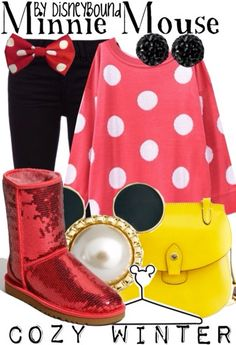 Disney bound Minnie Mouse! Super cute...and comfy!