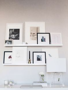Leaning gallery wall