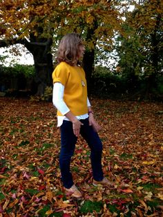 Gold Wool Short Sleeved Sweater by didyoumakeityourself on Etsy