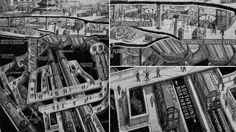Piccadilly Circus Tube Station from 20 Cutaway Drawings That Will Slice Open Your Mind