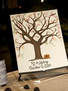 Guest book idea---fingerprint from each guest and a signature