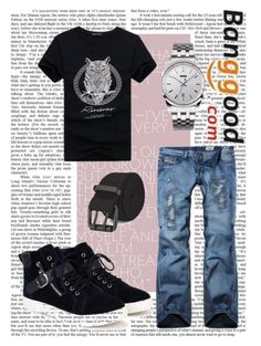 """Banggood V/5"" by a-camdzic ❤ liked on Polyvore featuring men's fashion and menswear"